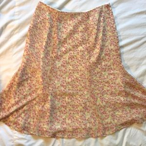 Jones wear sheer floral skirt